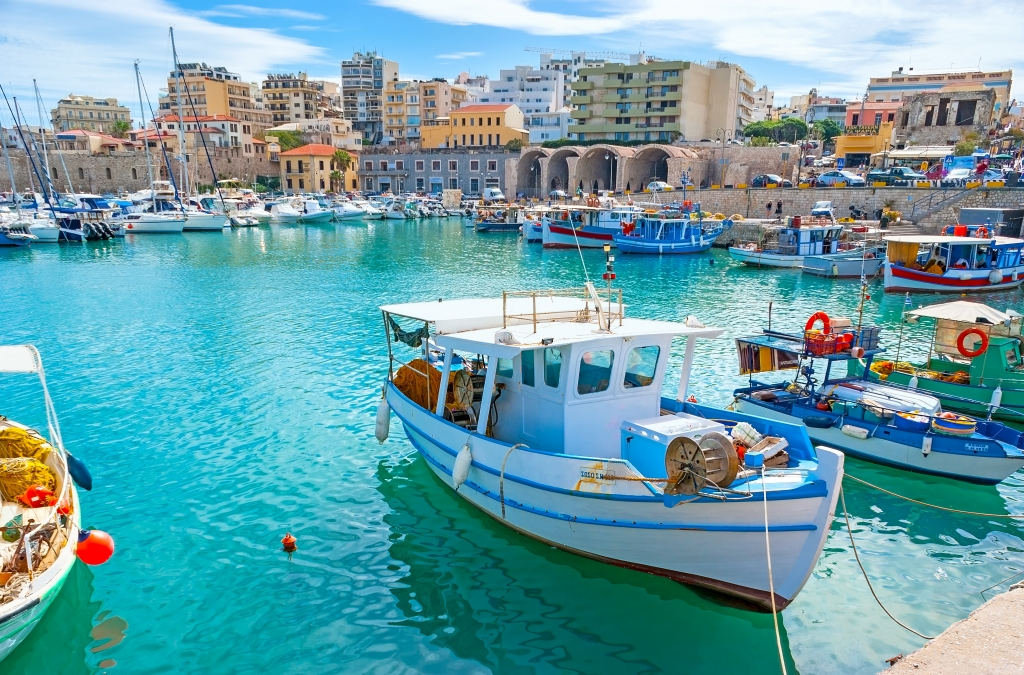 Create Retreats | The inner harbor of Heraklion