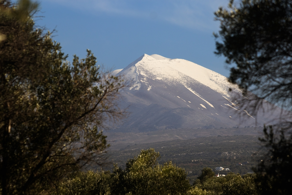 Create Retreats | Snow cap on Mount Ida on Crete in Greece, Psiloritis.