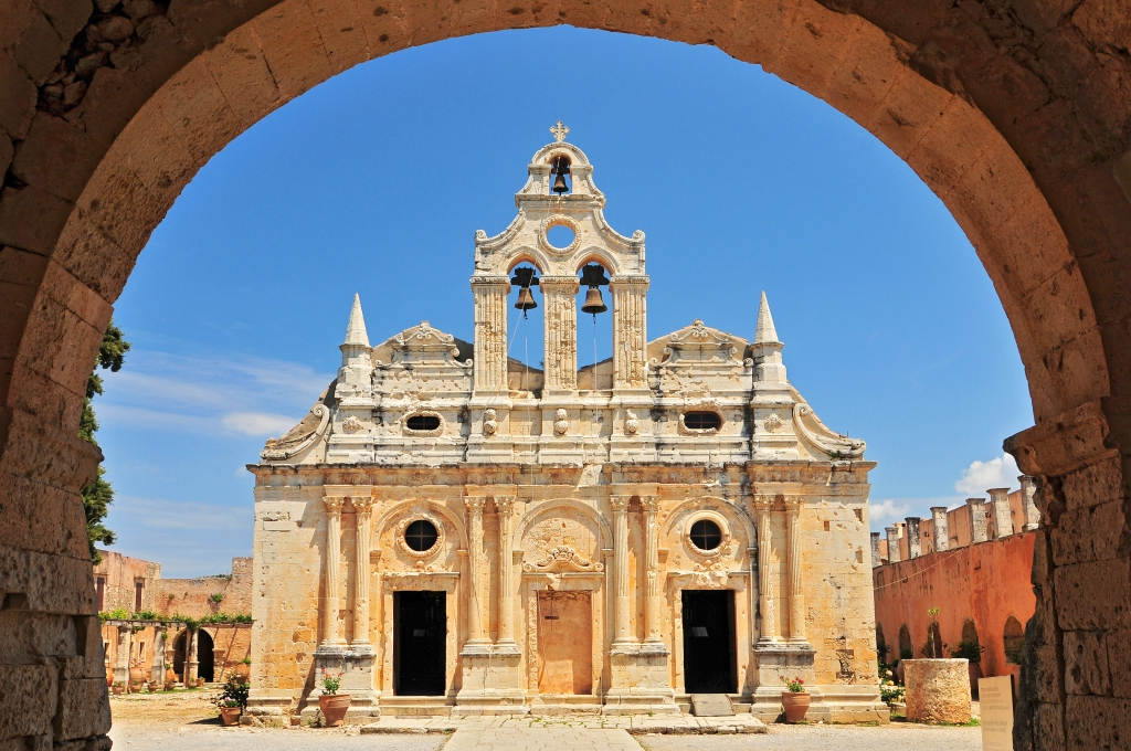 Create Retreats | Cretan Culture | The main church of Arkadi Monastery